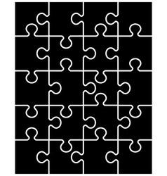 Black puzzle separate parts vector