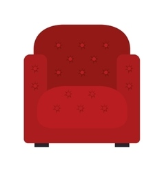 Red armchair icon vector