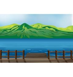 A blue calm sea vector image