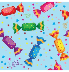 pattern cute sweets candy vector image