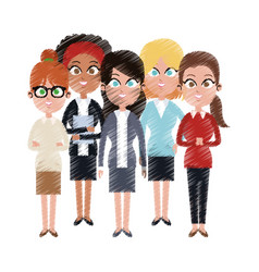 Team of young business people icon image vector