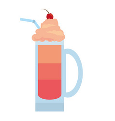 red fruit smoothie cold cream vector image
