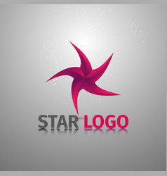 Beauty geometric stylized colorful logotype of vector