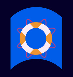 Flat icon design collection marine lifebuoy vector