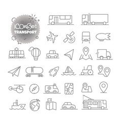 Simple icons collection web and mobile app vector