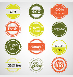 Eco labels collection vector