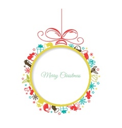Christmas ball with space for text vector image