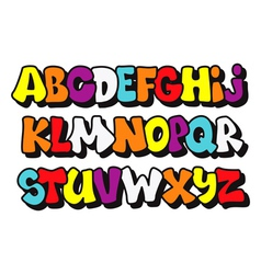 Comics graffiti style font type alphabet vector