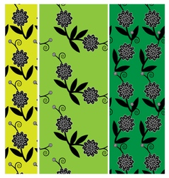 3 fower pattern vector