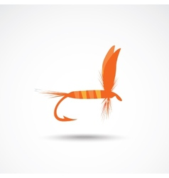 Fly-fishing vector image
