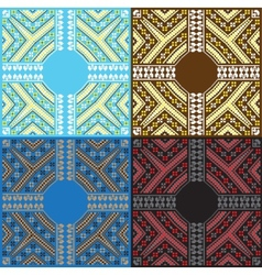 Set of ethnic baltic ornament pattern in different vector
