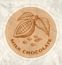 milk chocolate vintage paper vector image