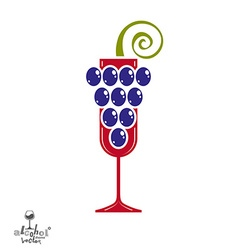 Winery idea eps8 elegant glass of wine with vector