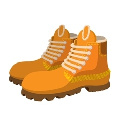 Hipster boots cartoon icon vector