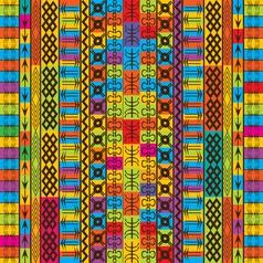 ethnic and geometric vector image