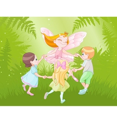 Fairy and children vector