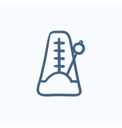 Metronome sketch icon vector