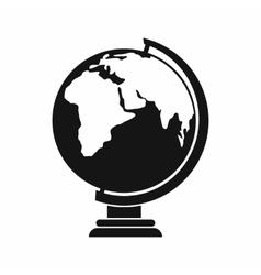 Globe icon simple style vector