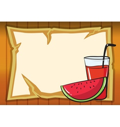 a watermelon and juice vector image vector image