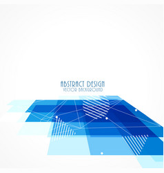 Blue perspective square mosaic background vector