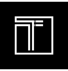 Capital letter T Monogram logo emblem vector image vector image