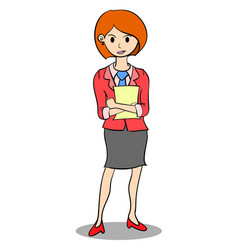 collection of business women with paper vector image vector image