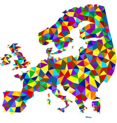 colorful mosaic abstract europe map vector image