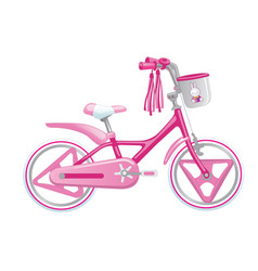 cute kids bicycle for a girl vector image