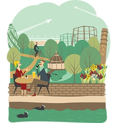 East London vector image vector image
