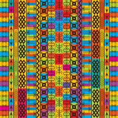 ethnic and geometric vector image vector image