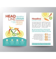 healthy lifestyle concept Brochure Flyer design vector image vector image