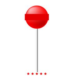 Lollipop icon color fill style vector