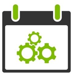 Mechanics gears calendar day flat icon vector