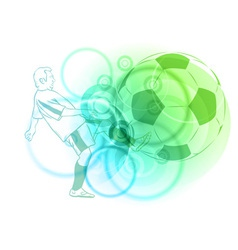 pastel football vector image