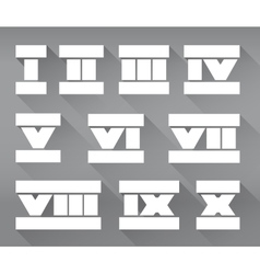 Roman numerals set vector