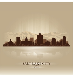 Salt Lake City Utah skyline city silhouette vector image