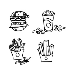 sketch fastfood vector image vector image