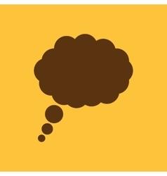 The speech bubble icon talk symbol flat vector