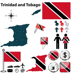 Trinidad and Tobago map vector image vector image