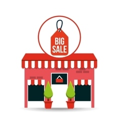 Cute store shopping big sale vector