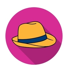 Panama hat icon in flat style isolated on white vector
