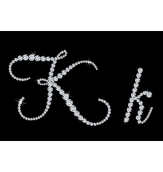 Diamond alphabetic letters of K vector image