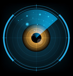 Technology digital future abstract radar screen vector