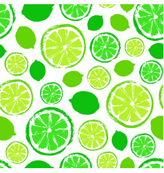 Limes background painted pattern vector