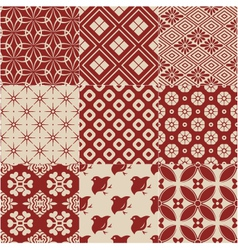 vintage japanese traditional pattern vector image
