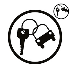 Car key simplistic icon vector