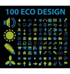 eco signs 100 vector image