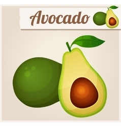 Avocado detailed icon vector