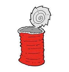 Comic cartoon old tin can vector