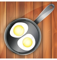 Breakfast omeletteer icon two vector